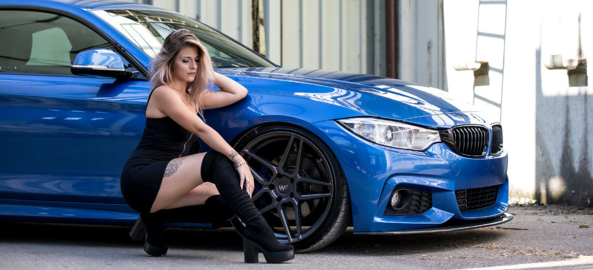 Maximale Tiefe in Verbindung mit 20 Zoll: ap Gewindefahrwerk im 4er BMW